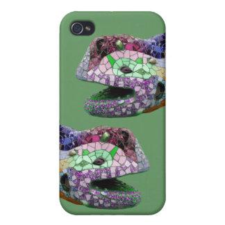 Lizard Head Mosaics Mirror iPhone 4/4S Covers