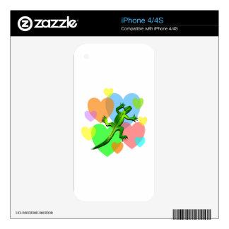 Lizard Hearts iPhone 4S Skins