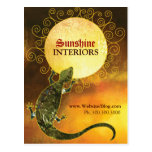Lizard Holding the Sun Business Promotion Postcard