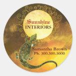 Lizard Holding the Sun: Business Promotion Sticker