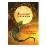 Lizard Holding the Sun: Interior Design Business Business Card