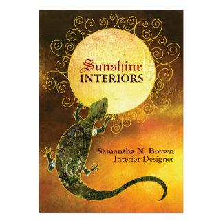Lizard Holding the Sun Interior Design Business Business Card