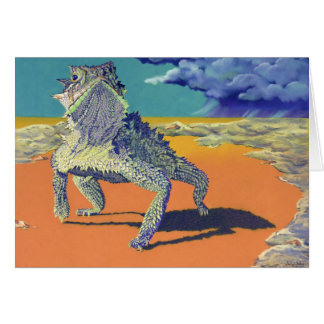 Lizard, Horned Toad Stationery Note Card