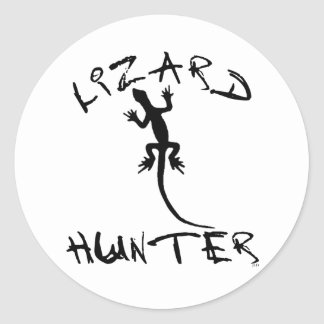 Lizard Hunter for Dogs and Pet Lovers Classic Round Sticker