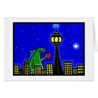 Lizard in Love card