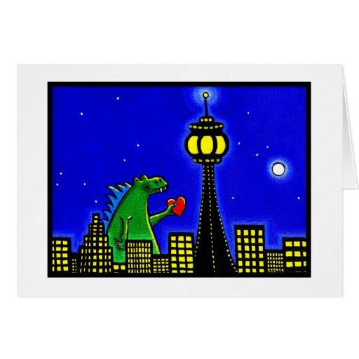 Lizard in Love Greeting Card