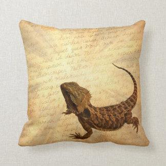 Lizard on a letter pillows