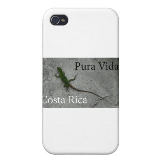 Lizard on Stone wall in Costa Rica Pura Vida! Cases For iPhone 4
