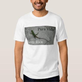 Lizard on Wall Costa Rica Pura Vida Tee Shirt