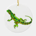 Lizard Double-Sided Ceramic Round Christmas Ornament