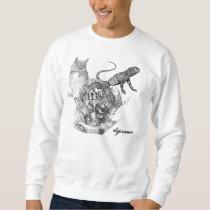 lizard, owl, tiger sweatshirt