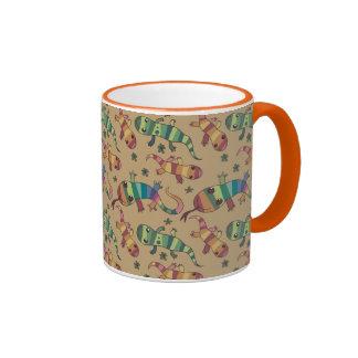 lizard pattern coffee mugs