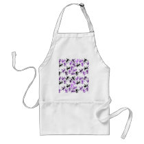 Lizard pattern - purple adult apron