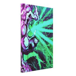 Lizard People Evil Sci fi purple aqua Canvas Print