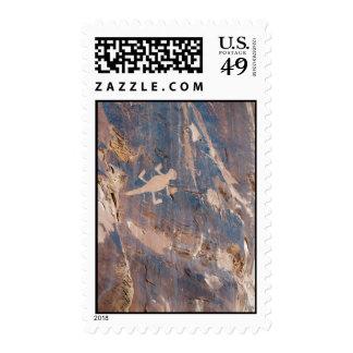Lizard Petroglyph at Dinosaur National Monument Stamp