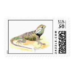 Lizard postage stamp
