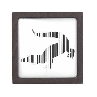 LIZARD REPTILE BAR CODE Crocodile Barcode Pattern Jewelry Box
