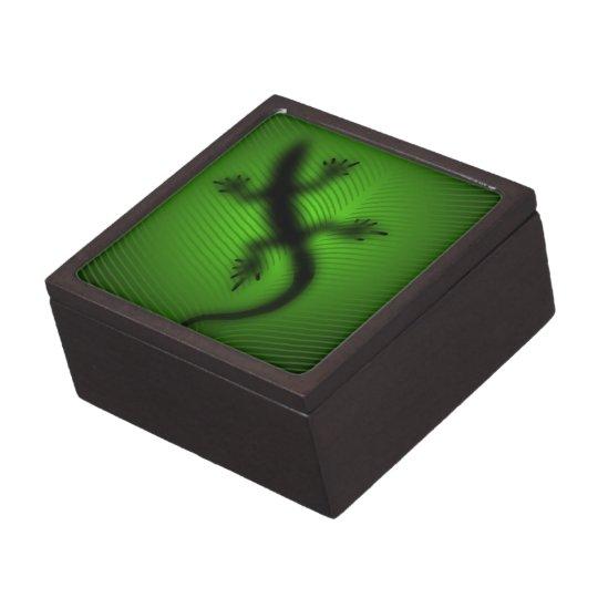 Lizard Silhouette Keepsake Box