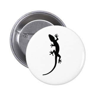 Lizard Silhouette Pinback Button