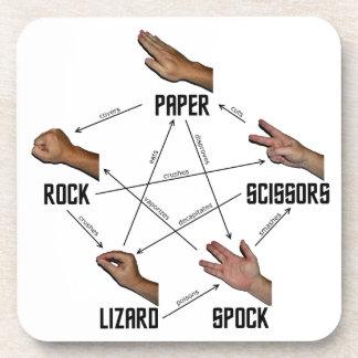 Lizard-Spock Coasters