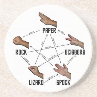 Lizard-Spock Drink Coaster