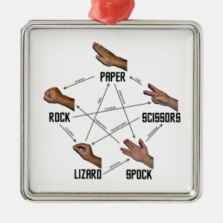 Lizard-Spock Metal Ornament