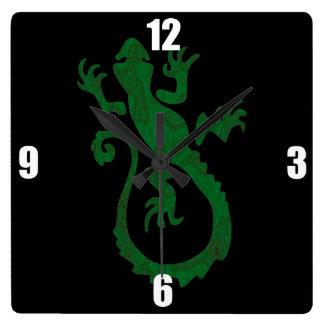 Lizard Square Wall Clock