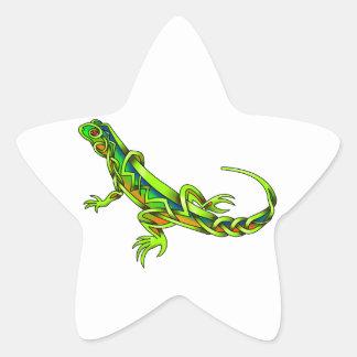 Lizard Star Sticker