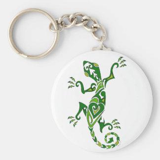 Lizard Tattoo Basic Round Button Keychain