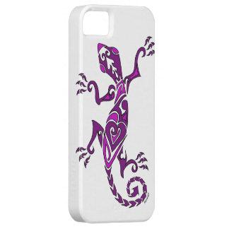Lizard tattoo/henna in purple iPhone SE/5/5s case