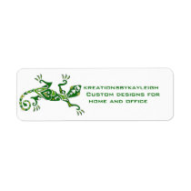 Lizard Tattoo Label