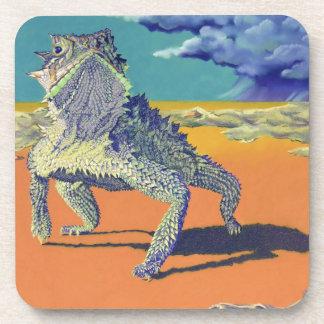 Lizard, Texas Horned Toad Drink Coaster