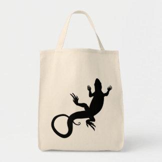Lizard Tote Bag Organic Reptile Art Shopping Bag