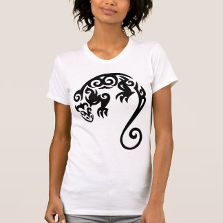 LIZARD TRIBAL BLACK T SHIRT
