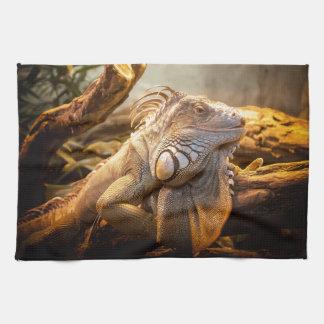 Lizard Up Close Hand Towel