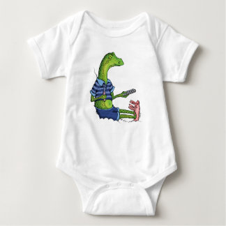 Lizard with Bunny Slippers Baby Bodysuit