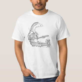 Lizard with Bunny Slippers T-Shirt