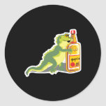 lizard with tequila stickers