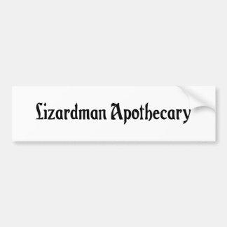 Lizardman Apothecary Bumper Sticker