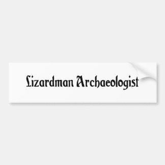 Lizardman Archaeologist Bumper Sticker Car Bumper Sticker
