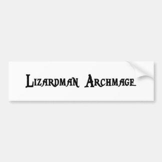 Lizardman Archmage Bumper Sticker