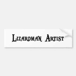 Lizardman Artist Bumper Sticker