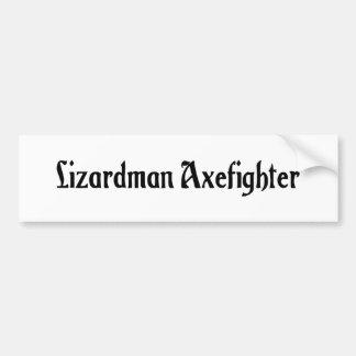 Lizardman Axefighter Bumper Sticker