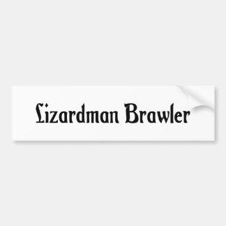 Lizardman Brawler Bumper Sticker