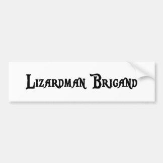 Lizardman Brigand Bumper Sticker