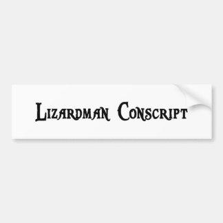 Lizardman Conscript Bumper Sticker