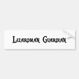 Lizardman Guardian Bumper Sticker