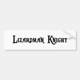 Lizardman Knight Bumper Sticker