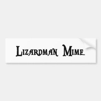 Lizardman Mime Bumper Sticker