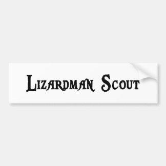Lizardman Scout Bumper Sticker